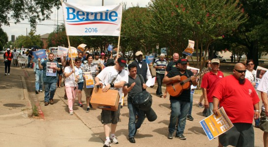 Marchers for Bernie