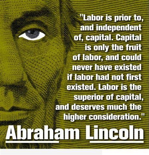 Lincoln quote on labor